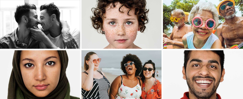 Série de portraits par Rawpixel et partenaires – Portraits trouvés sur Rawpixel, licence Rawpixel (images gratuites et libres de droits).