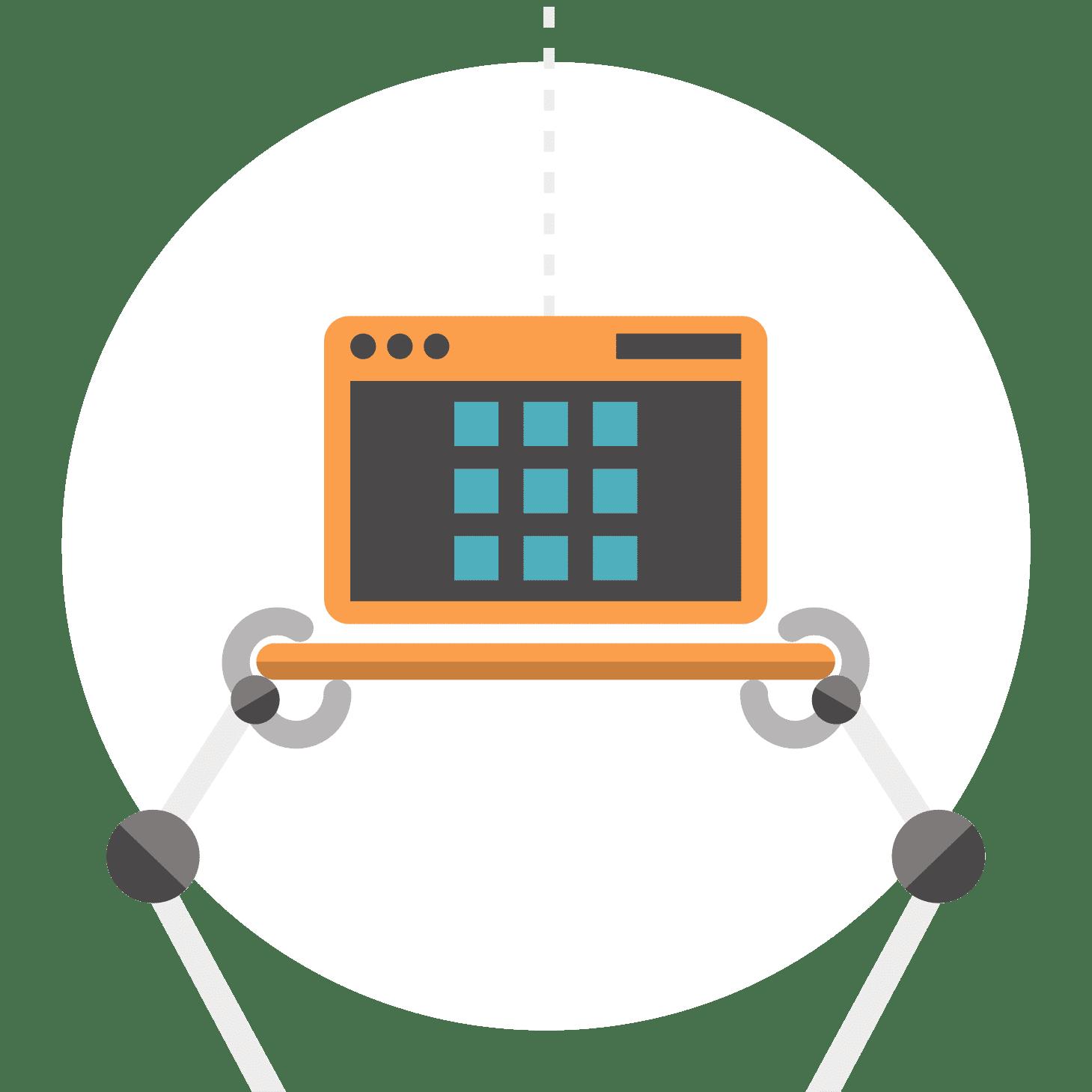 Bras de robots tenant un ordinateur portable- services numériques pour la recherche