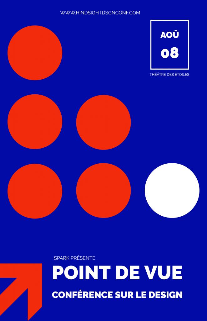 Affiche pour une conférence. Modèle gratuit et en français offert par Adobe Spark.