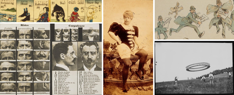 Images anciennes et d'archives provenant de sources multiples – Images trouvées sur The Public Domain Review, domaine public.